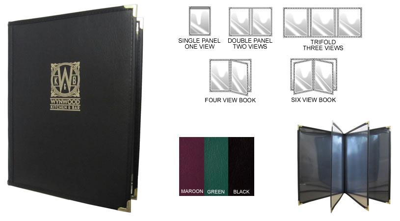 Four Views Double Panel Menu Cover