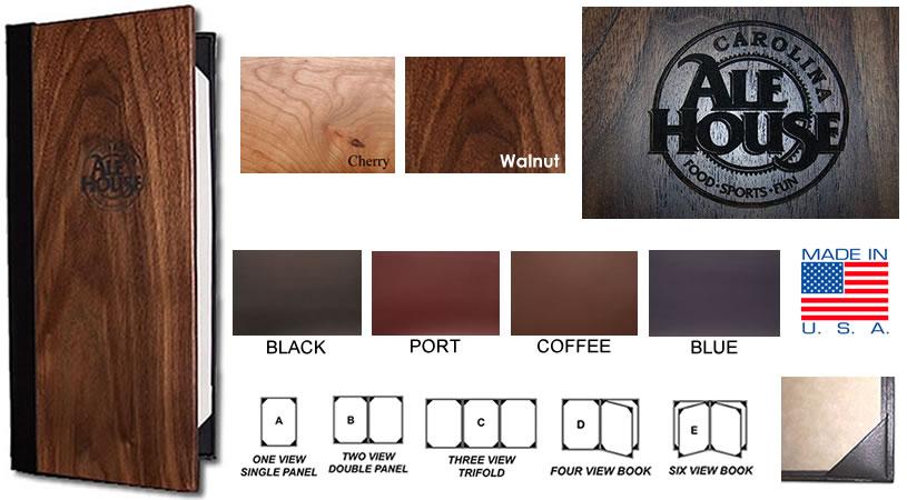 wood menu covers jr sales corp